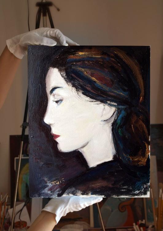L'une (6) ~ woman profile, figure study - Image 0