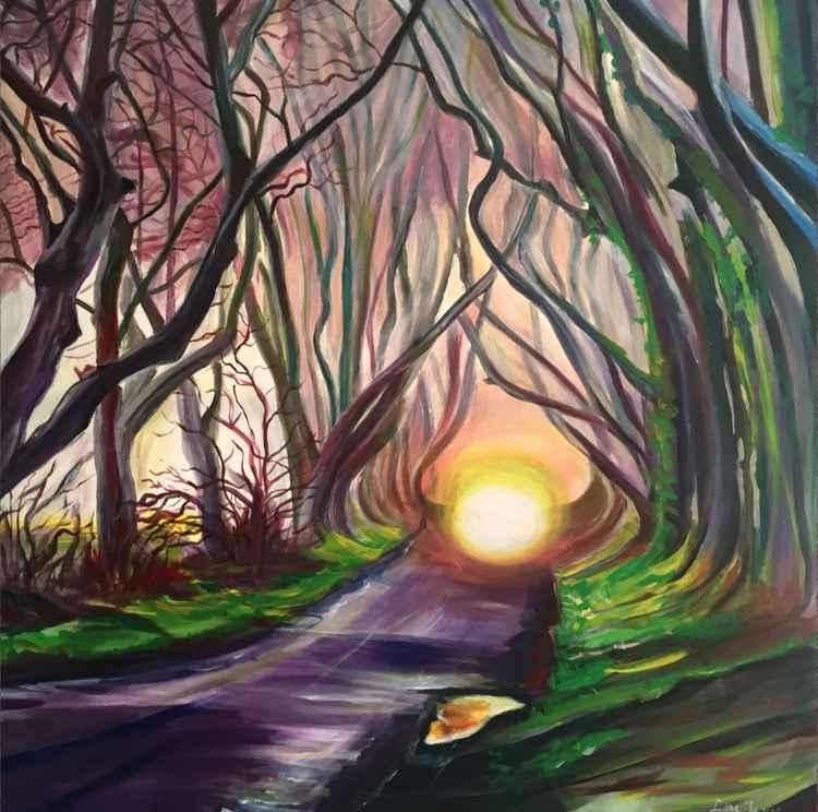 Landscape purple -