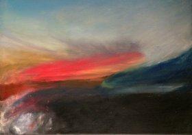 Cliffs, Sunset and Fog by Dyanna Dimick