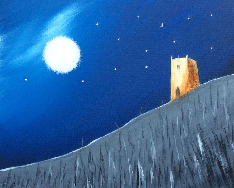 """ massive moon ' landing ' on Glastonbury tor "" - Image 0"
