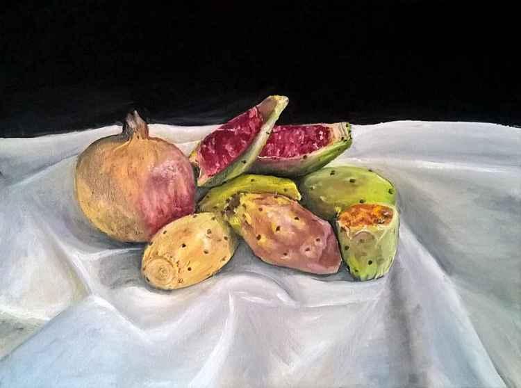 cactus fruit still life -