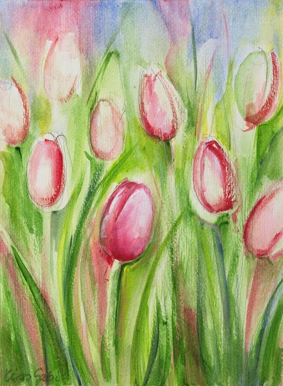 Pink tulips - Image 0