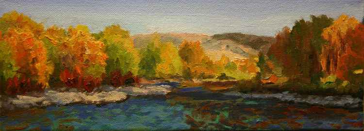 River in Fall Color Sketch -