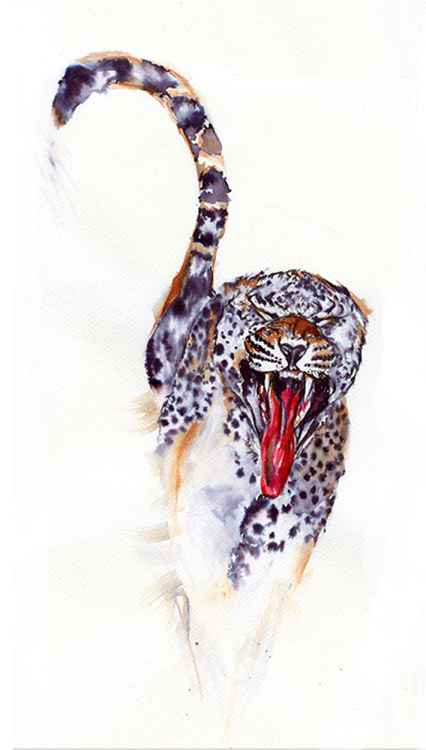 Cheetah/ Ink painting -