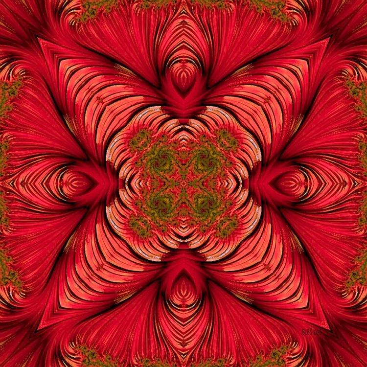 Red Fractal Star - Image 0