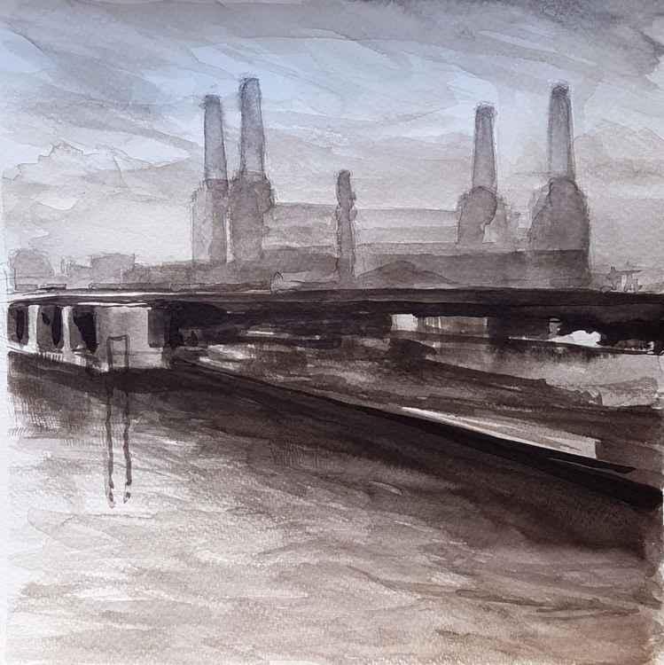 Battersea Ink Drawing