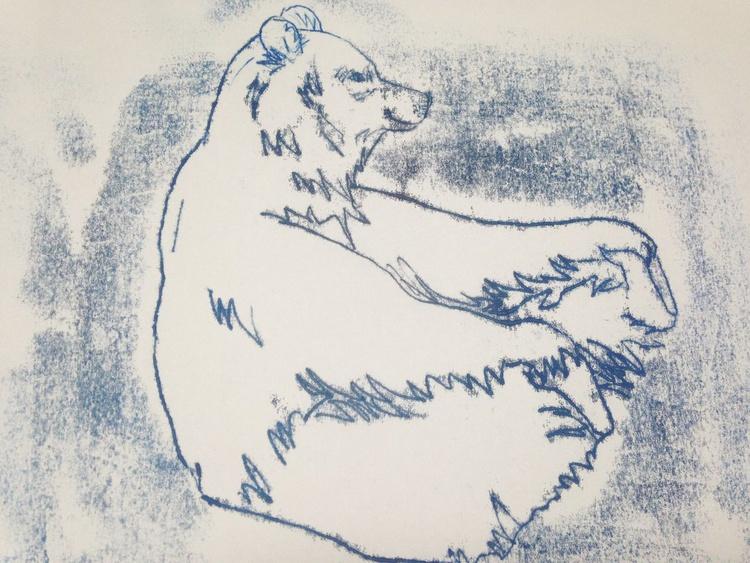 Happy blue bear - Image 0