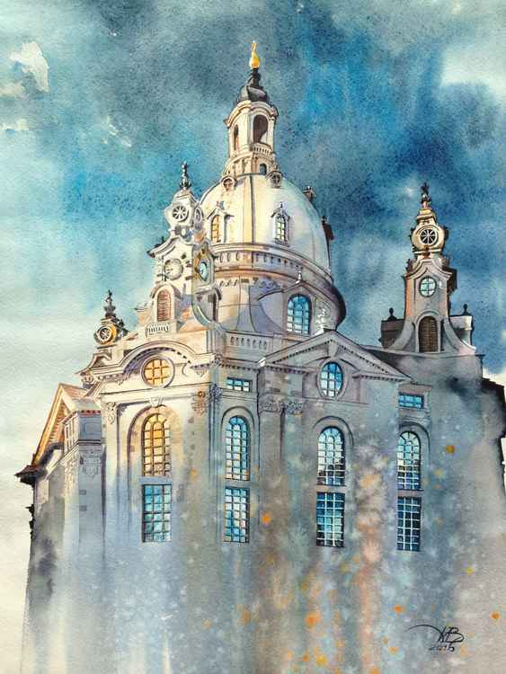 Frauenkirche/watercolor -