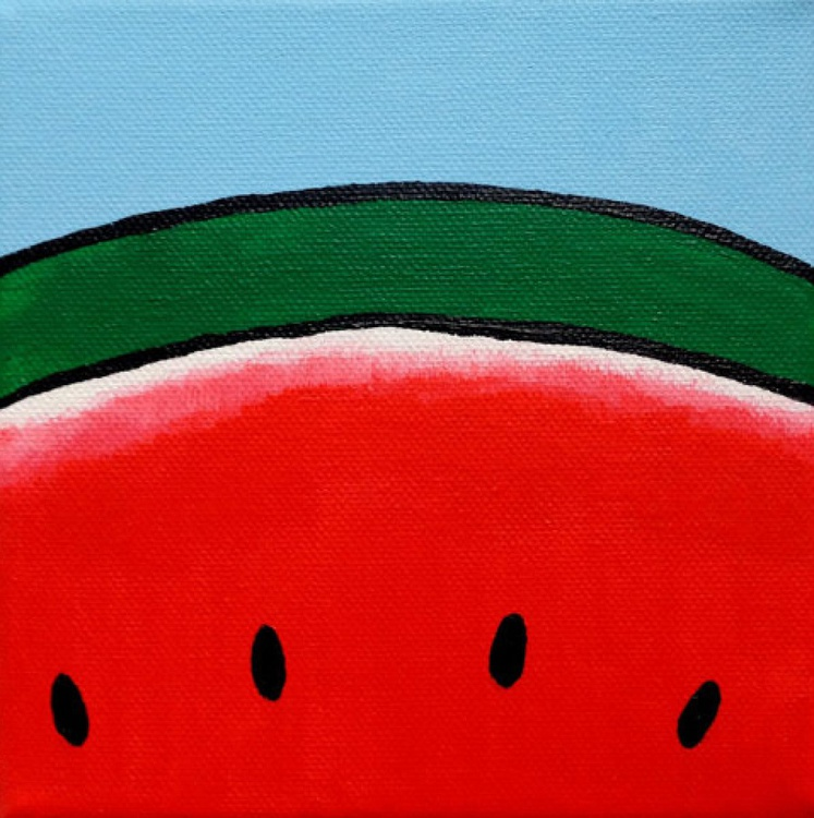 Watermelon Pop Art Canvas - Image 0