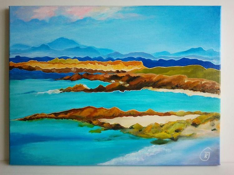 "Abstract Scottish Landscapes #2 Isle of Skye 61 x 46 cm - 24"" x 18"" - Image 0"