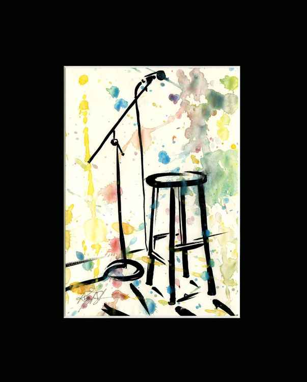 Open Mic Stage - Abstract Illustration Painting -