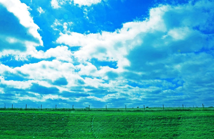 Blue Sky and Green Land - Image 0