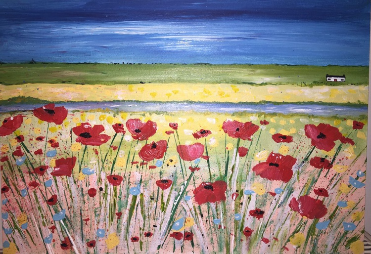 Poppies over the River - Image 0