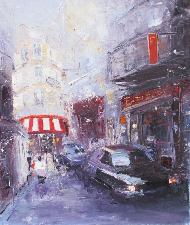 Paris Morning, Handmade oil painting One of a kind - Image 0