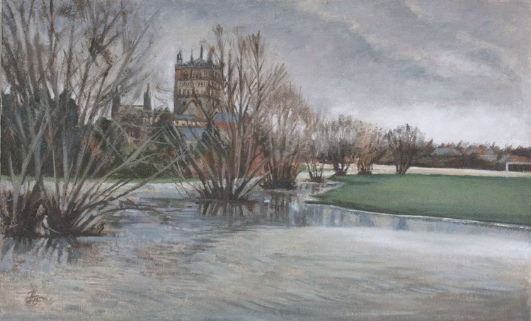 Tewkesbury Abbey in the Flood - Image 0