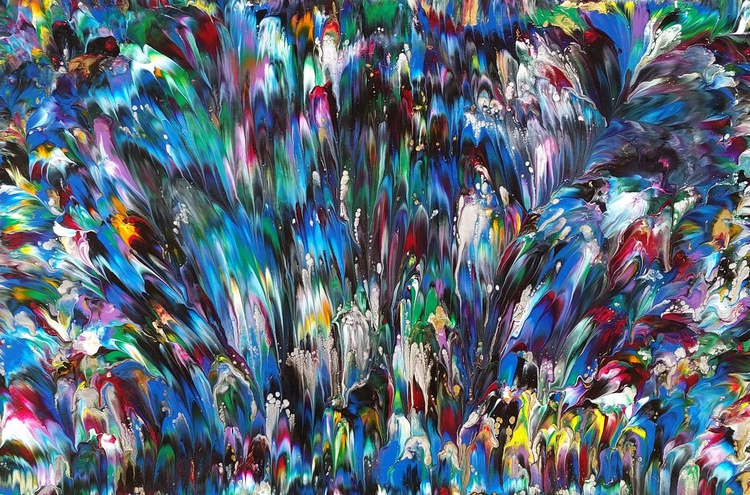 Fireworks - Colorful Abstract Painting - Image 0