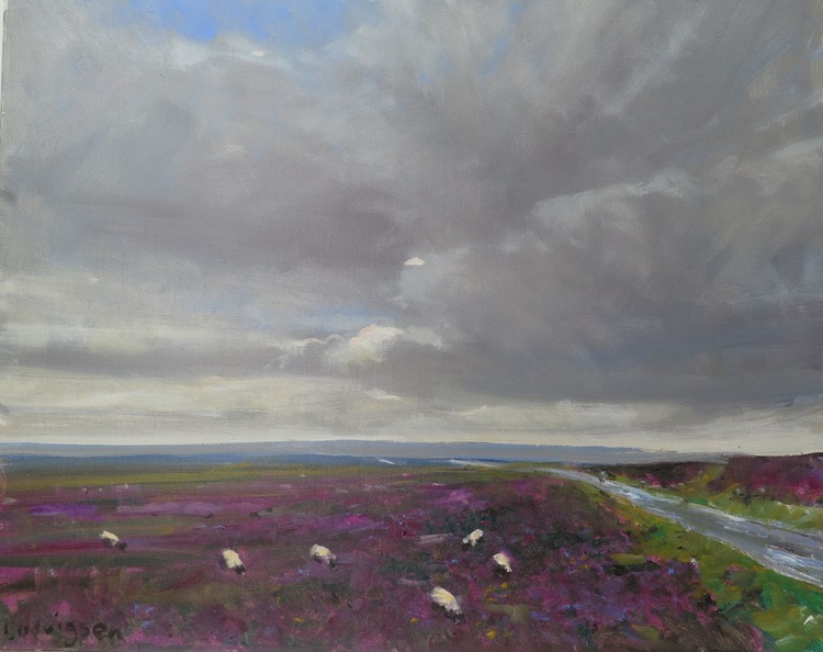 Heather at the head of Fryup Dale in the Yorkshire Moors. - Image 0