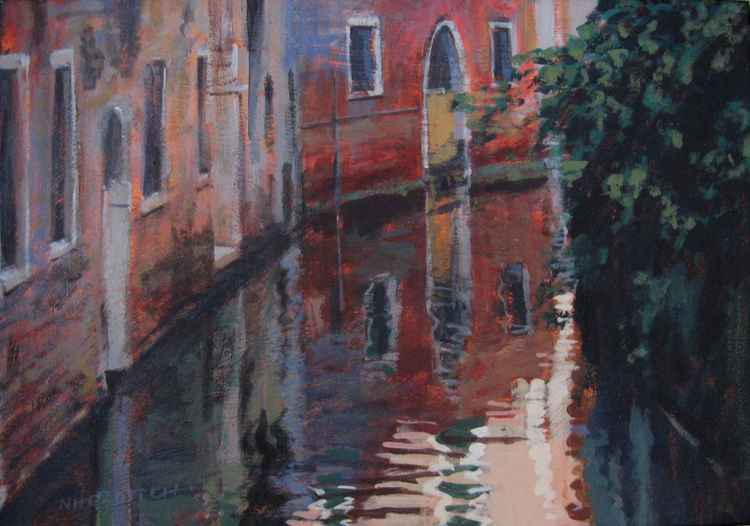 Venice Side Canal -