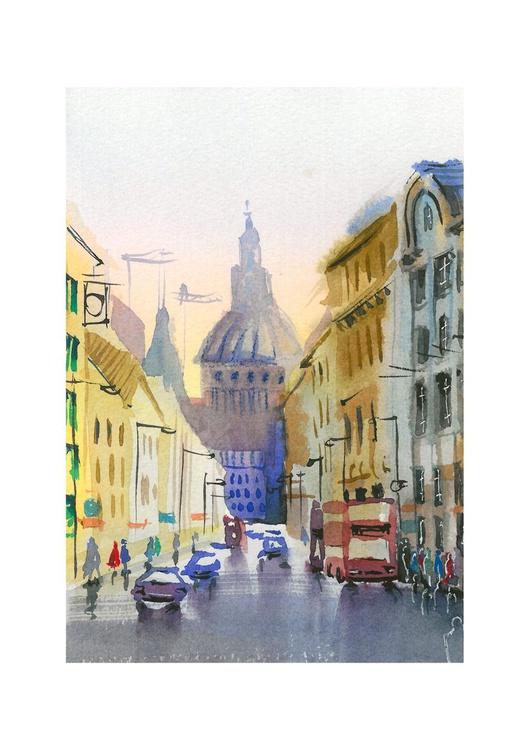 St Pauls, London, original drawing approx. A5 - Image 0