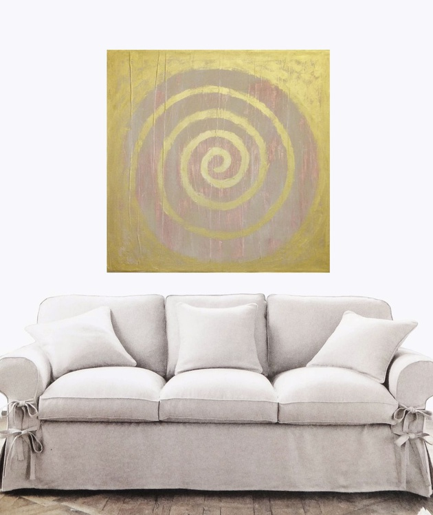 "Original abstract ""Calming"" original painting - Image 0"