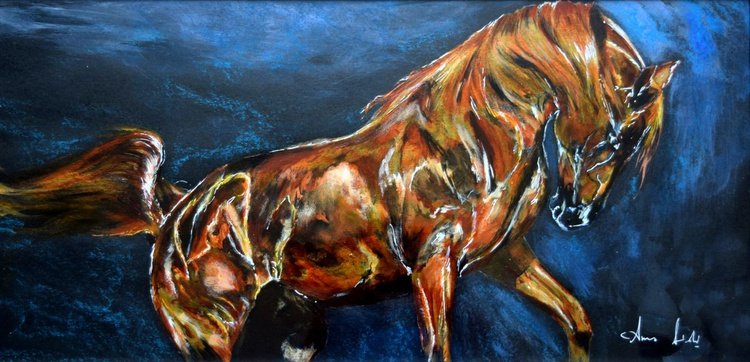 Shiny / Horse painting / Modern Equine Contemporary - Image 0