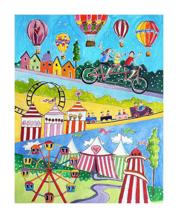 Fairground View with balloons