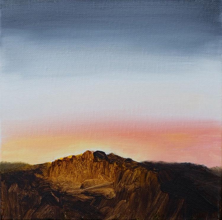Mountain at dawn - small size - deep edges canvas 20X20cm - Image 0
