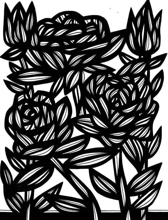 Florals Precipitate Original Drawing -
