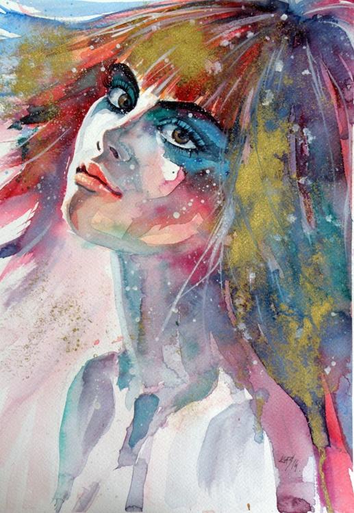 Girl in gold - Image 0