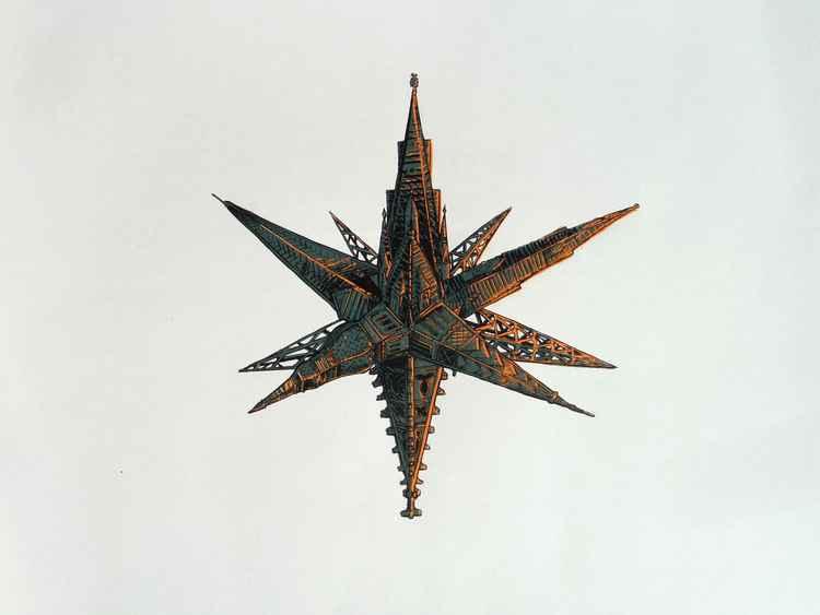 Spire pointed star -