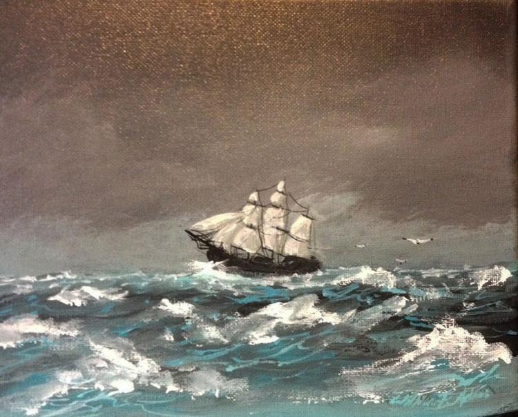 """Grey Skies ~ Angry Seas"" - Image 0"