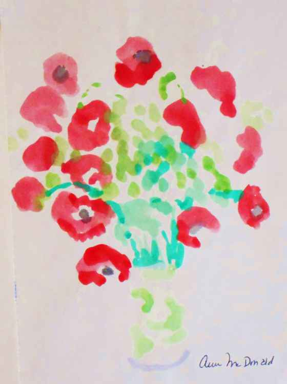 Red Poppies in Vase #2 -