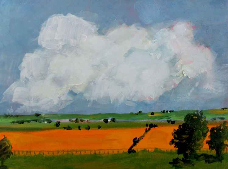 #A105 - Country view with clouds 2 -