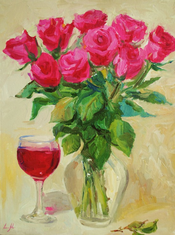Roses and Red Wine - Image 0