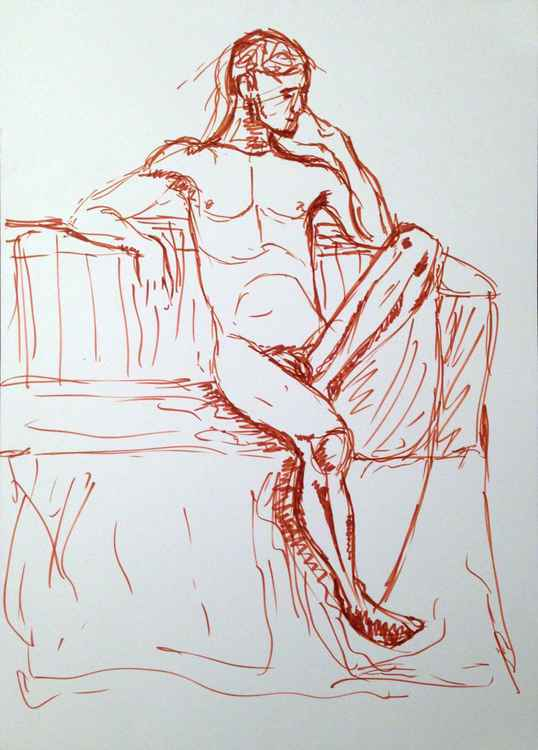 Male nude croquis
