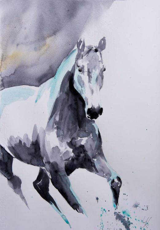 """MAJOR"", original watercolour painting, 14""x20""(35x50cm), ready to hang - Image 0"
