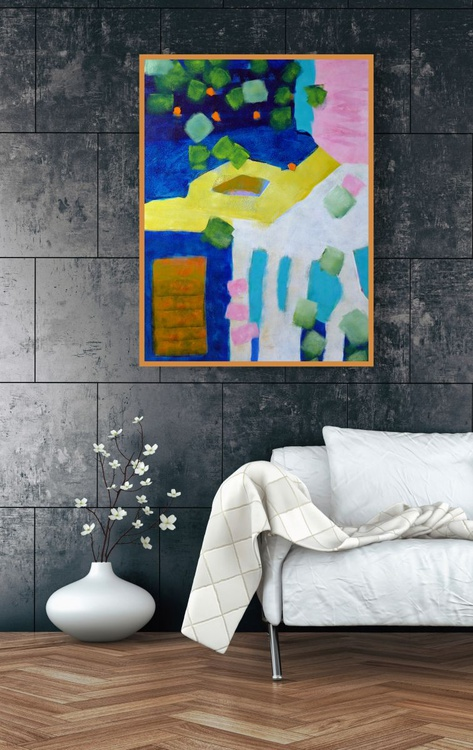 """Early Summer Patio 30"""" x 40""""/76 x 102cm - Image 0"""
