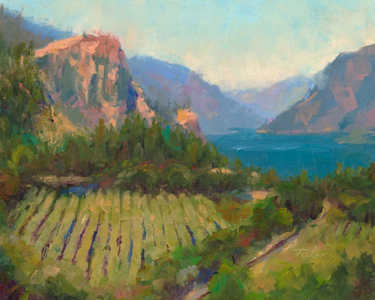 Morning Reverie - plein air landscape of Columbia River Gorge - Image 0