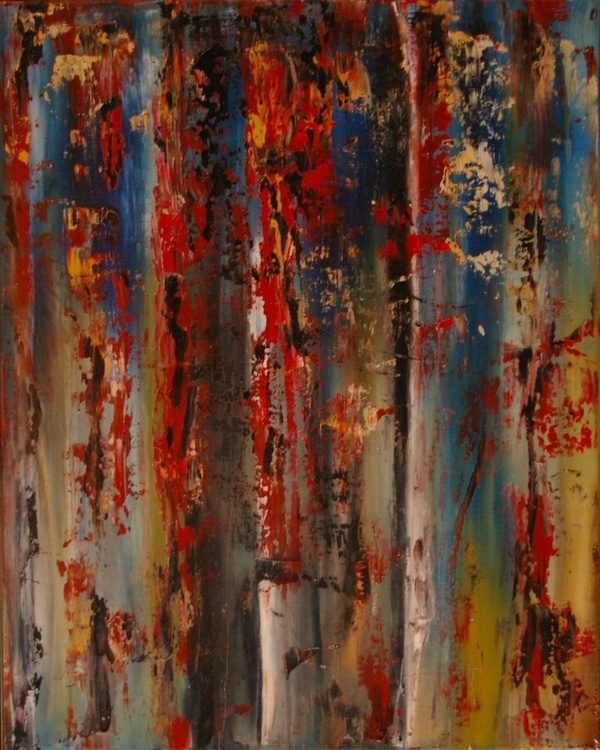 Ab15 xx - Dragged Paint Abstract - Image 0