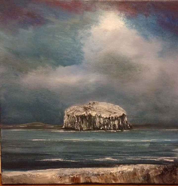 Bass Rock in winter