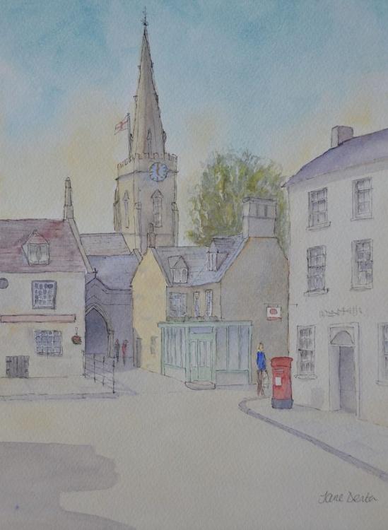 Market Square, Uppingham - Original Pen & Wash - Image 0