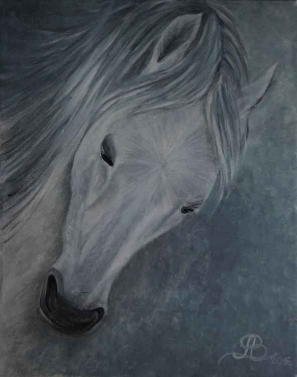 Blue horse in my dream -