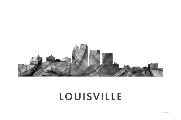 Louisville Kentucky Skyline WB BW