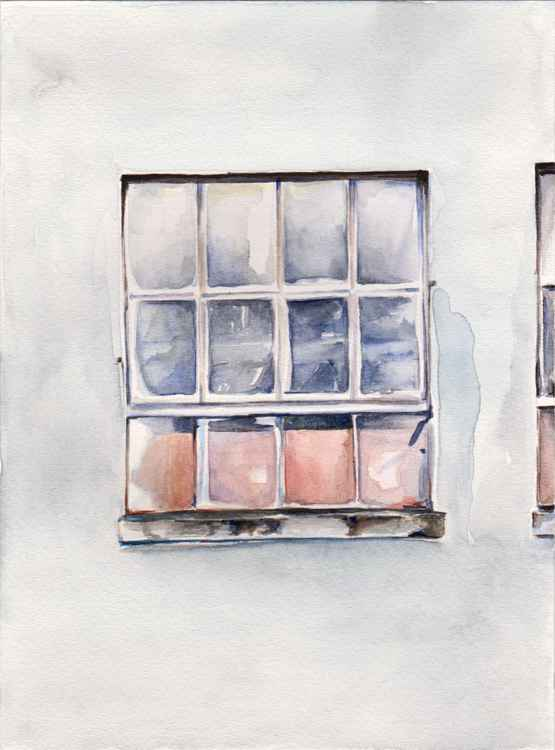 Window - Watercolor painting A5