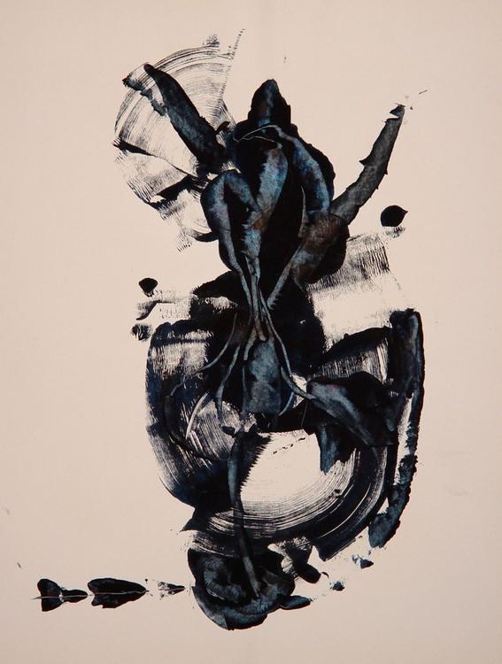 Scarabe Monoprint / Monotype, 50x65 cm - Image 0