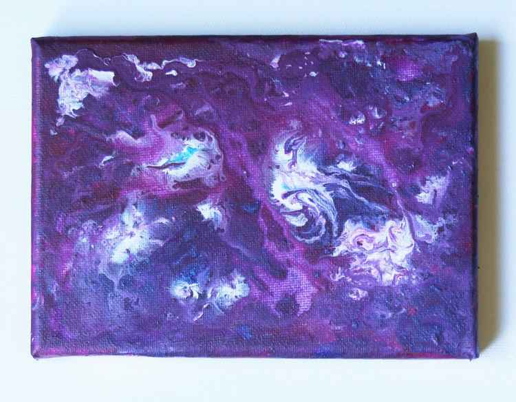 Purple Space Abstract -