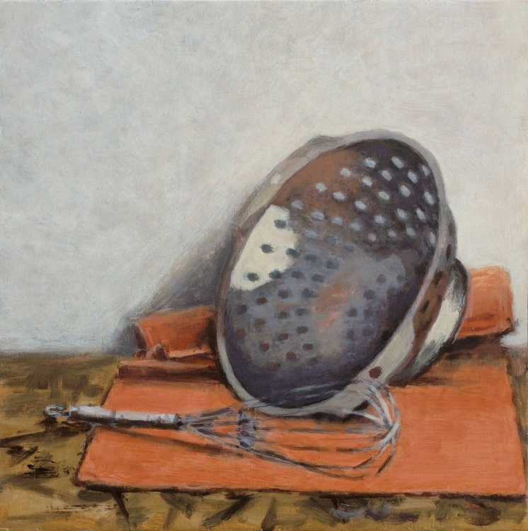 Still life with whisk and colander - Image 0