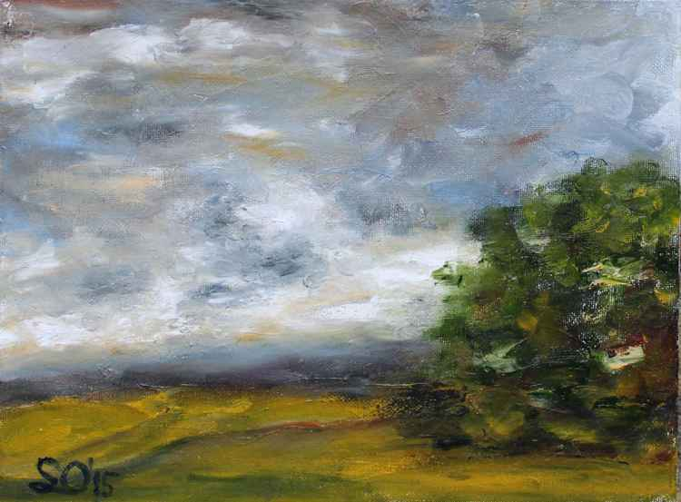 """Before a Storm  9""""x12"""" (22.86x30.48cm)"""
