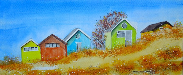 Beach Huts in the Summer - Image 0