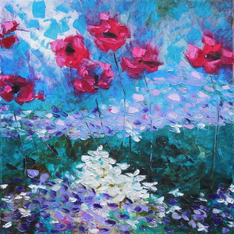 Hydrangeas and poppies - Image 0